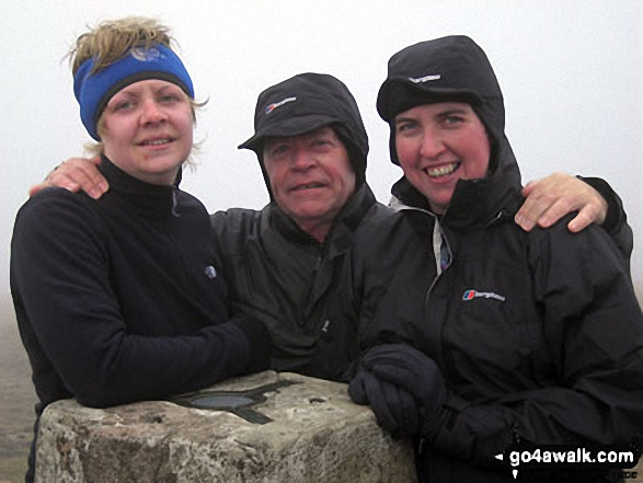 Hayley Me and Jo on top of Whernside Summit - giving the Yorkshire Three Peaks Challenge Walk another bash