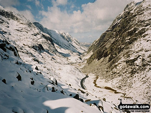Lanberis Pass from the Pyg track above Pen y Pass
