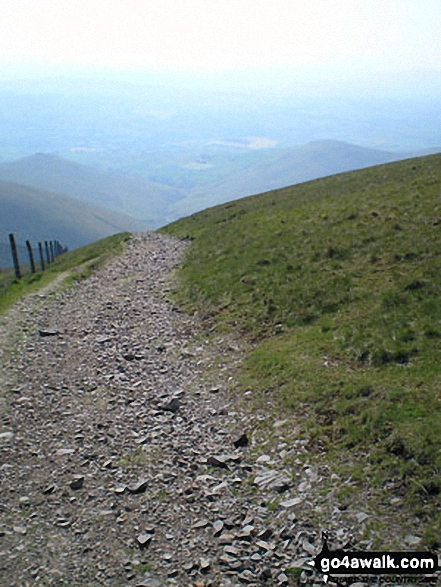 The track back from the summit of Calders
