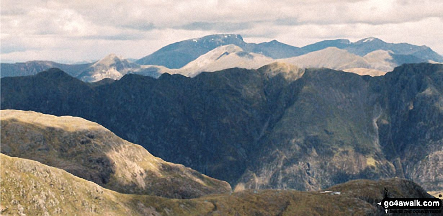 *Ben Nevis and The Aonach Eagach Ridge from Beinn Fhada