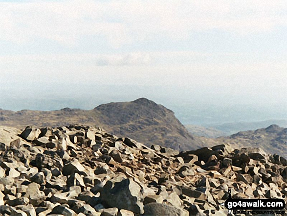 Bow Fell (Bowfell) from Scafell Pike. Walk route map c111 Scafell Pike from Wasdale Head, Wast Water photo
