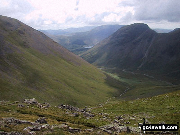 Mosedale (Wasdale) with Yewbarrow beyond from Black Sail Pass