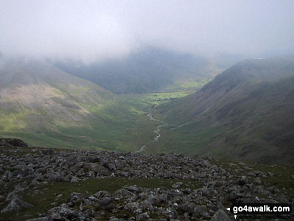 Mosedale (Wasdale) from Pillar. Walk route map c101 Pillar and Little Scoat Fell from Wasdale Head, Wast Water photo
