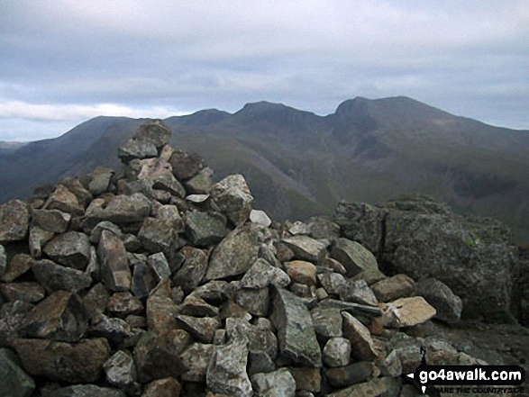 Walk Picture/View: Scafell Pike, Mickledore and Sca Fell from Yewbarrow summit cairn in The Lake District, Cumbria, England by David Connolly (41)