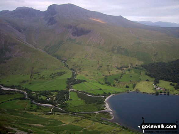 Walk Picture/View: Scafell Pike, Mickledore and Sca Fell above Wasdale Head from Yewbarrow in The Lake District, Cumbria, England by David Connolly (43)