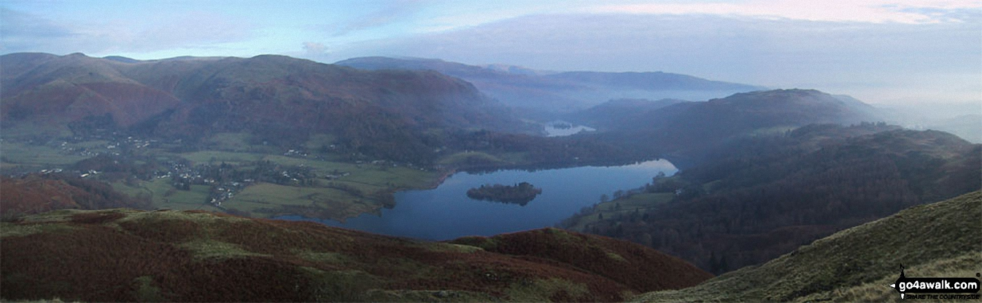 Grasmere  Village and Grasmere from Silver How