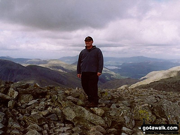Me on Scafell Pike in The Lake District Cumbria England