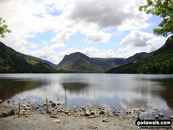 Buttermere, with Fleetwith Pike straight ahead and Hay Stacks (Haystacks) to the right
