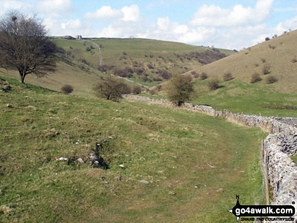 Deep Dale from the southern end. Walk route map d249 The Monsal Trail, Miller's Dale and Chelmorton from Wye Dale photo