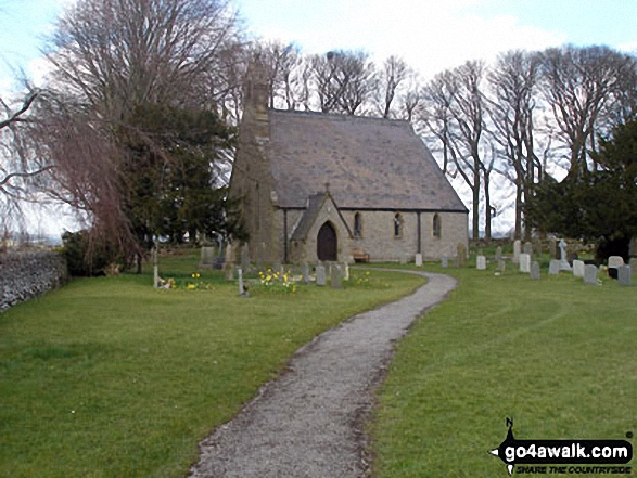 Sheldon Village Church. Walk route map d270 Monsal Head, Monsal Dale and Deep Dale from Ashford in the Water photo