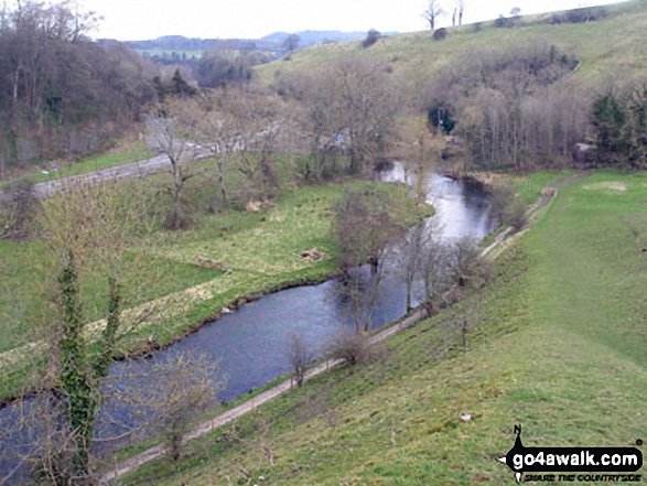 The River Wye and Ashford in the Water from Littel Shackleton Wood