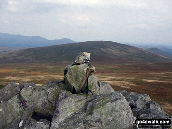 Yoadcastle summit cairn with Hesk Fell beyond
