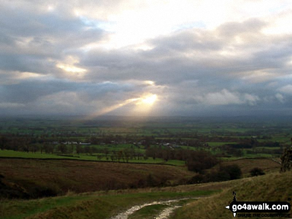 The Vale of Eden from the walk back into Dufton