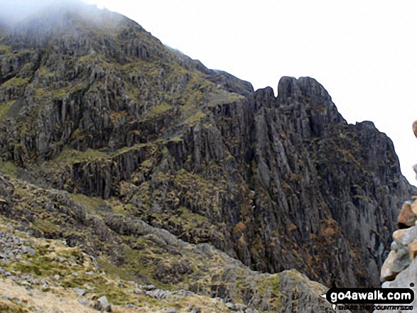 Pillar (left) and Pillar Rock from Robinson's Cairn. Walk route map c101 Pillar and Little Scoat Fell from Wasdale Head, Wast Water photo