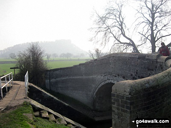 Wharton's Lock on The Shropshire Union Canal with Beeston Castle in the background
