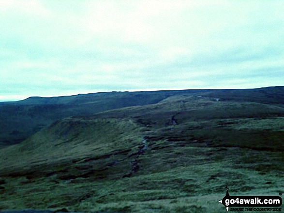 The Kinder Plateau from Grindslow Knoll (Kinder Scout)