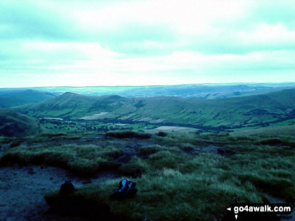 The Edale Valley from Grindslow Knoll (Kinder Scout)
