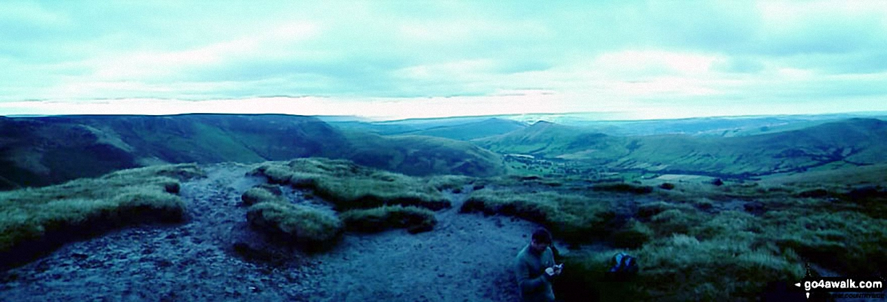 *The Edale Valley and Kinder Plateau from Grindslow Knoll (Kinder Scout)
