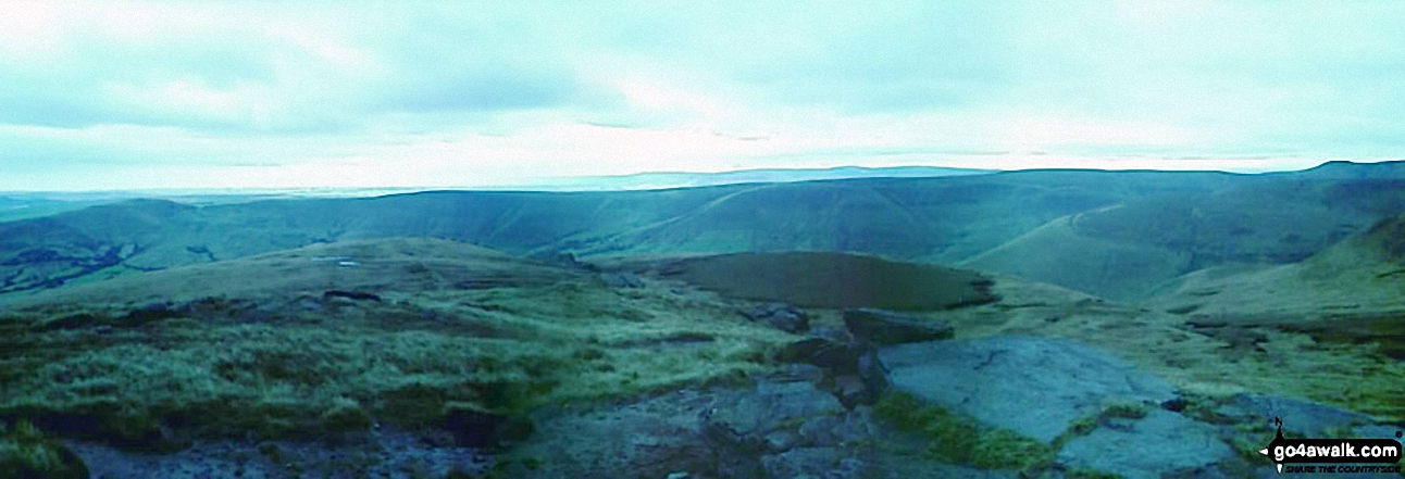 *Panoramic view from Grindslow Knoll (Kinder Scout)