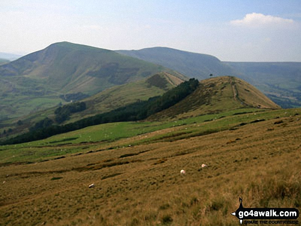 Mam Tor from the lower slopes of Lose Hill (Ward's Piece)