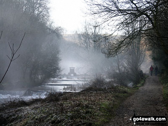 Weirs on a very cold day in Lathkill Dale