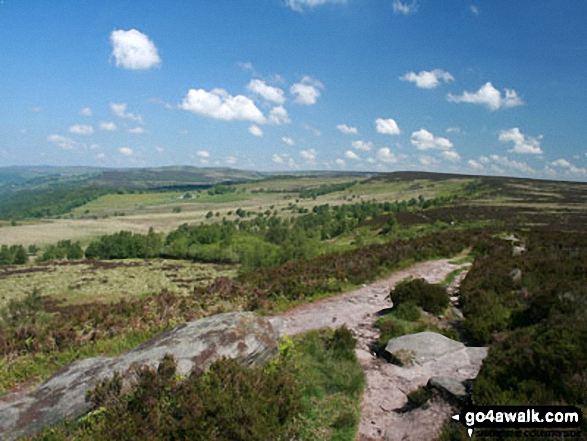 Looking towards The Grouse Inn from White Edge (Big Moor)