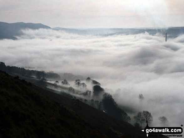 The Edale Valley during a temperature inversion - as seen from Winhill Pike (Win Hill)