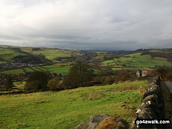 Looking towards Stoney Middleton from Curbar Gap