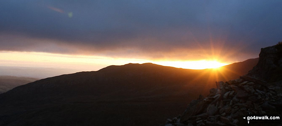 *Sunrise over Gallt Yr Ogof from Tryfan