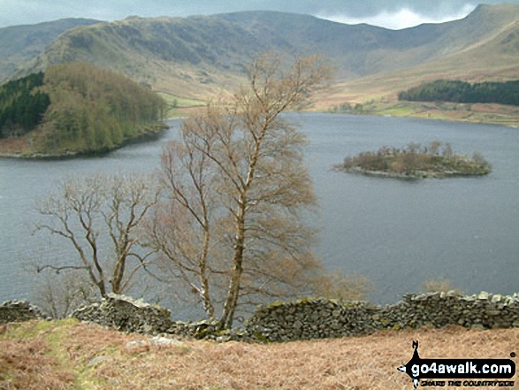 The Rigg, Wood Howe and Haweswater from Selside Pike