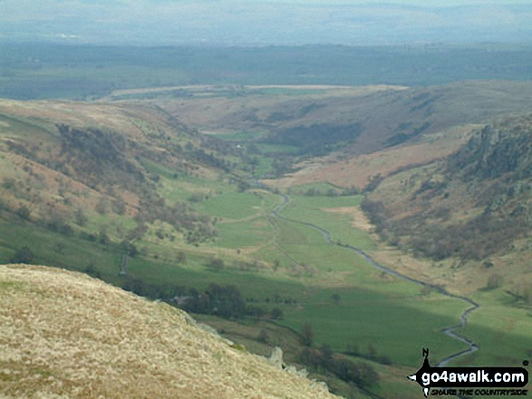 Swindale from Selside Pike. Walk route map c251 The Mardale Head Horizon from Mardale Head photo
