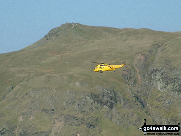 Rescue Helicopter with Place Fell from Beda Head (Beda Fell)