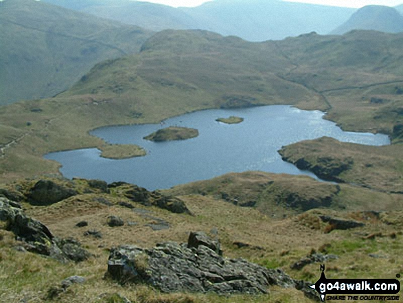 Angle Tarn (Martindale) from Angletarn Pikes. Walk route map c249 The Knott and Angletarn Pikes from Patterdale photo