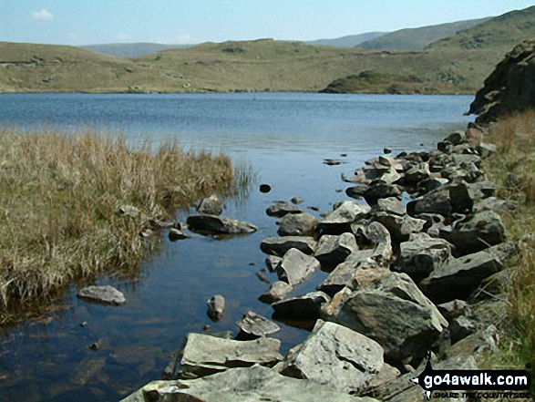 Angle Tarn (Martindale). Walk route map c304 Beda Head and Place Fell from Howtown photo