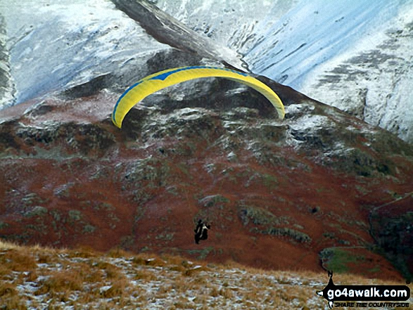 Paragliding from Mellbreak. Walk route map c212 Burnbank Fell, Gavel Fell, Hen Comb and Mellbreak from Loweswater photo