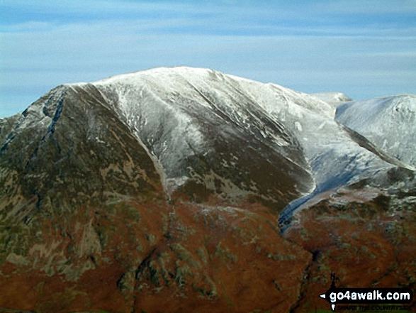 Grasmoor summit from Mellbreak