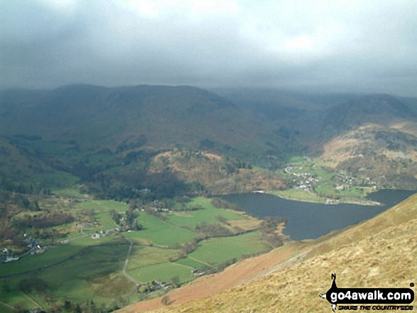 Patterdale and Glenridding from Place Fell. Walk route map c304 Beda Head and Place Fell from Howtown photo