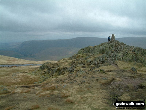 Place Fell summit. Walk route map c304 Beda Head and Place Fell from Howtown photo