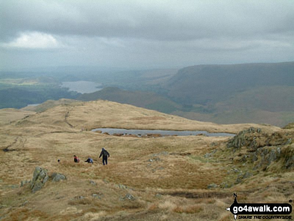 High Dodd (Sleet Fell) from Place Fell. Walk route map c304 Beda Head and Place Fell from Howtown photo