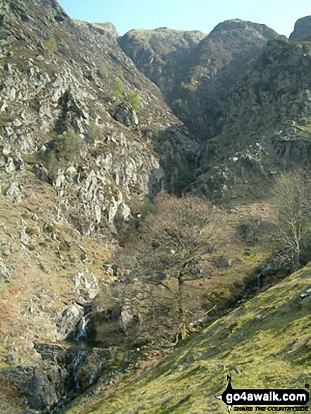 Walk c219 A Circuit of Buttermere from Buttermere - Goat Gills from Hassnesshow Beck