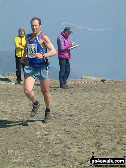 Anniversary Waltz Fell Race leader on Robinson summit