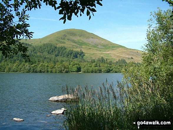 Burnbank Fell across Loweswater. Walk route map c212 Burnbank Fell, Gavel Fell, Hen Comb and Mellbreak from Loweswater photo