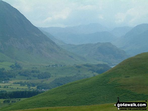 Lorton Vale from Fellbarrow. Walk route map c275 Darling Fell, Low Fell and Fellbarrow from Loweswater photo