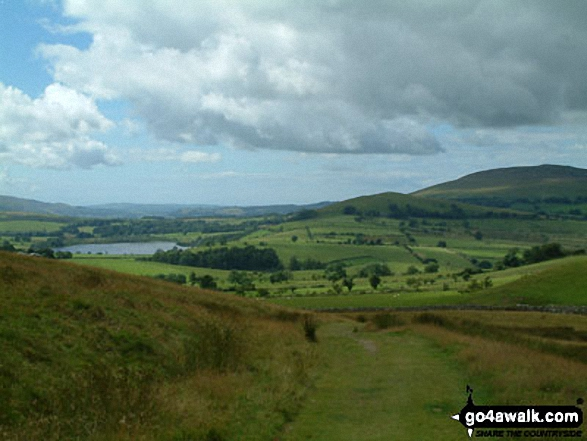 Overwater (left) and Binsey (right) from The Cumbria Way near Longlands