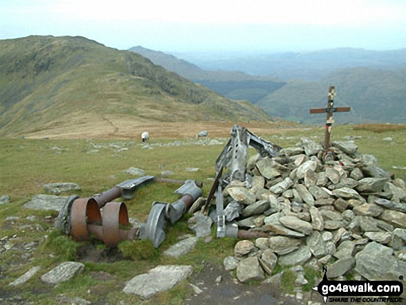The S for Sugar Aircraft Crash Memorial between Swirl How, Great Carrs and Grey Friar