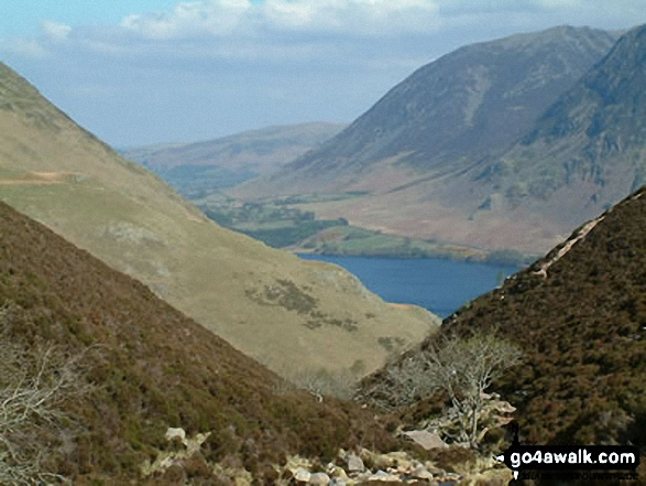 Crummock Water and Whiteside from Scale Beck