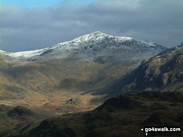 Esk Pike and Great Moss (foreground) from Hard Knott