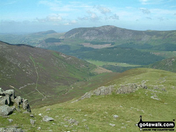 Great Borne and Starling Dodd from Caw Fell. Walk route map c130 Haycock and Steeple from Ennerdale Water photo
