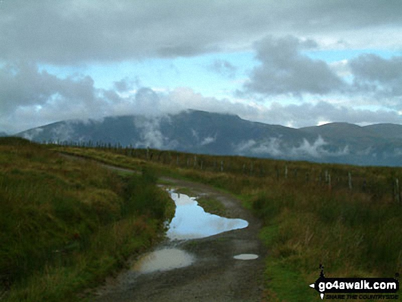 Walk Picture/View: Green lane across Matterdale Common in The Eastern Fells, The Lake District, Cumbria, England by David Hayter (240)