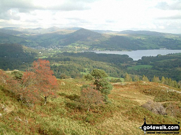 Ambleside and Windermere from Black Fell (Black Crag)